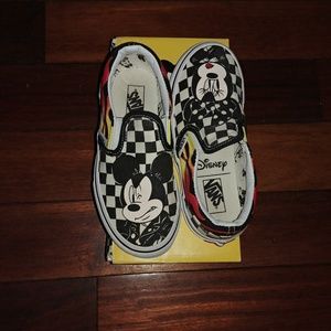 VANS Mickey Minnie checkered sz 12 collection rare
